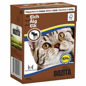 Bozita Bitar I Gelé Med Älg Till Katt